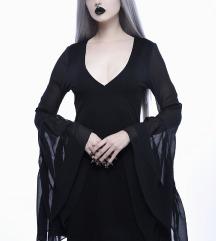 Black Veil Chiffon Dress Killstar XS