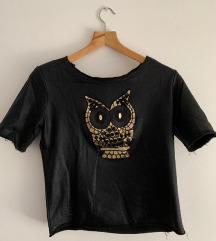 Kožna majica sa sovom, S