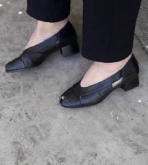 GABOR crne kozne sandalete 25cm