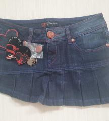 Teksas mini suknja Sarah Chole