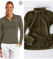 Original Puma long sleeve green golf shirt