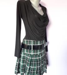 Zelena karirana suknja