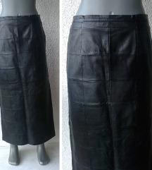 crna duža kožna suknja broj 38