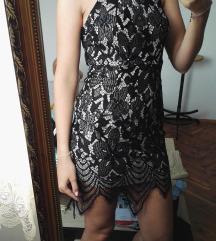 Crna cipka haljina, snizeno