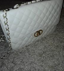 Krem elegantna torbica