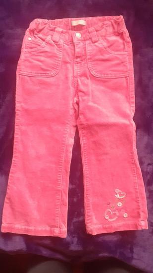 Joe roze somotske pantalone za devojcice, 3 god.