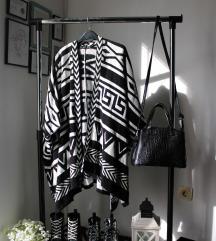 Crno-beli džemper/ogrtač Atmosphere