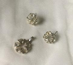 SNIZENJE 400 komplet nakit posrebreno