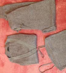 Trodelni Zara sivi tanji knit komplet