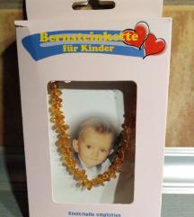 Cilibar ogrlica za bebe