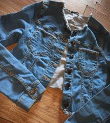 Sisley crop teksas jakna 💙