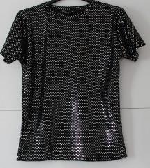 Crna disco majica s,m novo