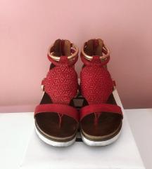 Sandale crveno-zlatne