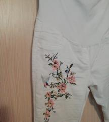 Bele TRUDNICKE pantalone