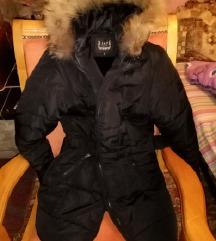 Crna zimska jakna, s velicina