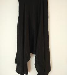 Suknja od crnog satena
