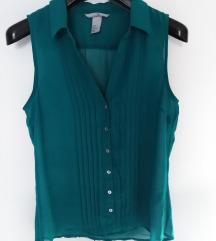 H&M smaragdno zelena kosulja bez rukava
