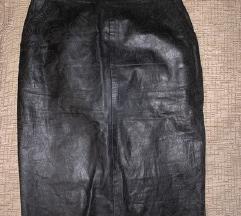 Valentino original kozna suknja dubokog struka