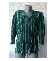 košulja svilena zeleno crna pruge br 38