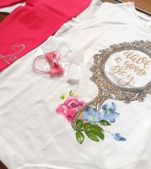 Komplet za devojcice majica helanke br.92 NOVO