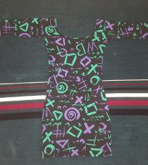 Uska crna haljina sa zanimljivim sarama - NOVO