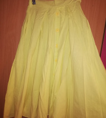 SNIZENJE!Limun zuta suknja Vintage