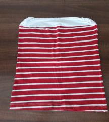Top majica crveno bela sa elastinom S