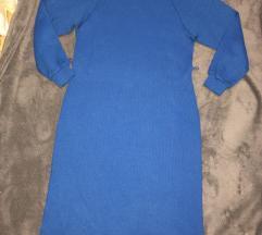 Plava dzemper haljina
