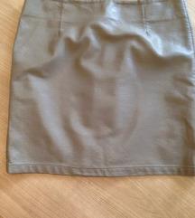 Siva mini suknja skaj, 36/38,  odlična, sada 600!