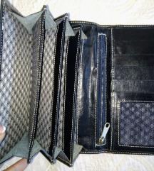 Manual kožni crni novčanik