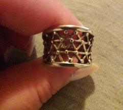 Prsten 17 mm srebro