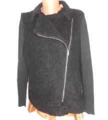 engleska crna kratka jakna xl kao novo