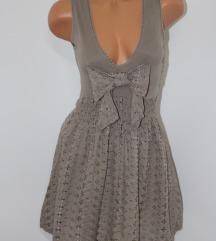 Italijanska siva haljina*Besprekorna vel.S