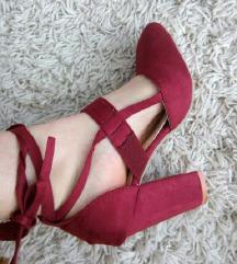NOVE Bordo cipele 35/36