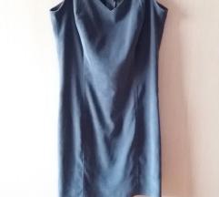 Velur siva haljina