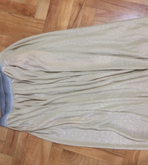 Nova zlatna midi suknja