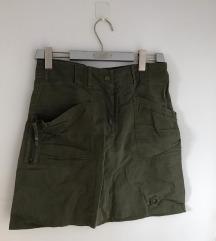 Teksas zelena suknja