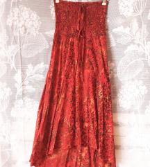 Crveno narandžasta haljina