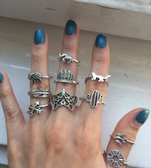 Set od 12 elegantnih prstenova NOVO
