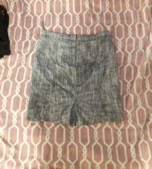 Siva mini suknja