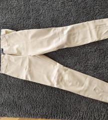 Zara nude kožne pantalone