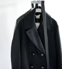 ISABEL MARANT H&M tamno sivi kaput