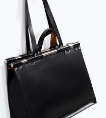 velika crna ZARA torba