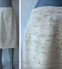 suknja sirova svila šivena po meri broj 46 ili 48