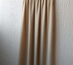Dugačka krem suknja