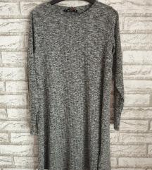 NOVA Siva dzemper haljina - tunika S-M
