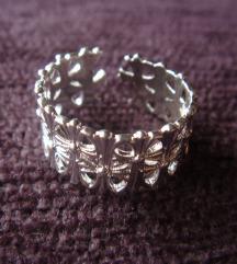Prsten cvetovi srebro 925 NOVO
