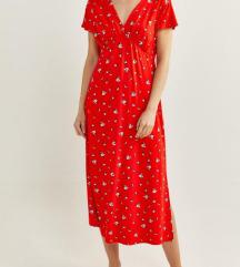 🥀Crvena haljinica na cvetice %%%1550🌹