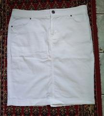 Zara basic bela pamucnu suknja