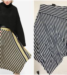 Amisu mornarska asimetricna suknja NOVO etiketa